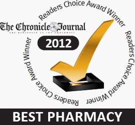 Winner of The Chronicle Journal's 2012 Reader's Choice Award for Best Pharmacy